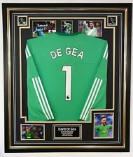 David de Gea of UNITED Signed Photo with Shirt Autographed Jersey Display