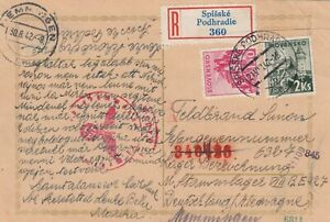 21.8.42 - MiF 2 Ks - R-Brief - SPISSKE PODHRADIE - Lagerpost - MEMMINGEN - F15