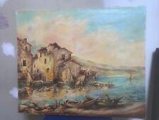 HST tableau peinture MARINE huile sur toile signée