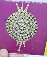 LeeWards SILVER PEARL PUFF Vintage Sequin Bead Christmas Ornament Kit NOS