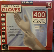 200  Count 1 Box Kirkland Signature Latex  Exam Gloves Size Small And Large
