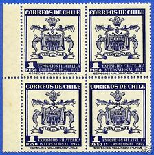 CHILE, INTERNATIONAL PHILATELIC EXHIBITION, BLOCK OF 4, YEAR 1963, MNH