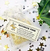 Magic Reindeer Food Bag Christmas Eve Magical Kids Activity Santa Oats Dust b1