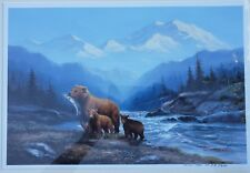 """TOK HWANG """"DENALI FEAST """" HAND SIGNED LIMITED EDITION COLOR LITHOGRAPH #304/350"""
