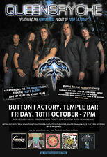 Queensryche 2013 Dublin Concert Tour Poster - Heavy/Progressive Metal Music
