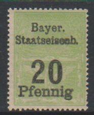 Bavière - 20pf vert (Chemin de fer Tax Fiscal) TAMPON - MNH