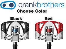 Crank Brothers Mallet 3 Enduro Clipless Platform Bike Pedals BlackOR Red &Cleats