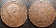 Espagne - Alfonso XII - 10 centimos 1877 - KM#675