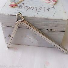 1 Taschenbügel Silberfarbe Vintage L Handtasche Clip Verschluss 14.5cm