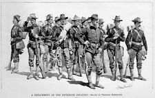 FREDERIC REMINGTON FIFTEENTH INFANTRY DETACHMENT UNIFORMS TRUMPET FIREARMS PACKS