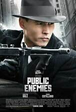 PUBLIC ENEMIES Movie POSTER 27x40 B Johnny Depp Christian Bale Billy Crudup