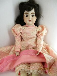 "German Bisque Reproduction Kestner Doll ? 174 18"" by Margorite Dean 1977"