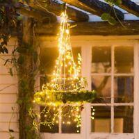 2M/200LED Solar Waterfall Lights Fairy String Xmas Tree Party Decor Lamp 8 Modes