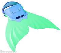 BLUE/GREEN Mermaid Atlantis Swim FINS Child Swimming Swim Sz 1-7 Flippers Kids