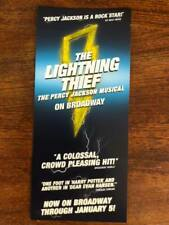 the Lightning Thief the Percy Jackson musical  ad/flyer Broadway NYC