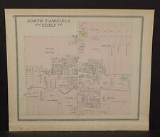 Ohio Huron County Map North Fairfield 1891  !Y14#64
