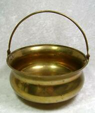 Brass Pot Cauldron Handle Vintage Hearth Home Decor Pagan Wiccan Rustic As Is