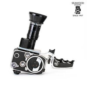 Bolex Zoom Reflex P2 8mm Film Camera w/Som Berthiot 9-30mm Lens GOOD