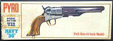 """BOX & INSTRUCTIONS ONLY"",PYRO Pistol Kit No.G208-150, CIVIL WAR NAVY ""36"","