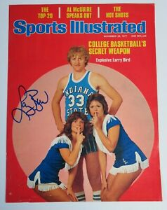 Larry Bird CELTICS HOF Signed Autograph Auto SI Sports Illustrated Nov. 1977 JSA