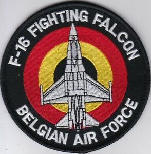 Belgian air force F-16 Fighting Falcon roundel patch