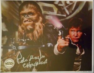 """PETER MAYHEW SIGNED AUTOGRAPH STAR WARS """"CHEWBACCA"""" 8x10 OFFICIAL PIX OPIX PHOTO"""