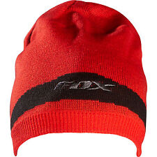 Fox Racing Transaction Beanie Hat Skull Cap Red Black Grey Adult One Size NEW