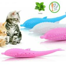 Soft Silicone Mint Fish Cat Toy Catnip Pet Toy Clean Teeth Toothbrush Chew Cats