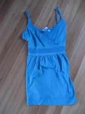 LADIES CUTE BLUE EMBROIDERED SLEEVELESS TOP BY ESPRIT - SIZE S - AUS 8/10/12 NWT