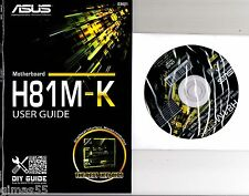DRIVER CD + MANUALE x scheda madre main board ASUS H81M-K