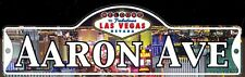 AARON AVE - Welcome To Fabulous Las Vegas Street Sign (Laminated Plastic)