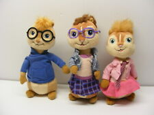 Alvin and the Chipmunks plush toy lot Beanie Baby SIMON,BRITTANY and JEANETTE