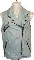 H12) Luxus Designer Drykorn Jeans Weste Jacke Neu Gr.2 S/M 169€
