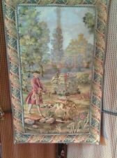 BEAUTIFUL ROMANTIC TAPESTRY WALL HANGING, LINED,TABS, LARGE 33x21in,High Quality