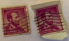 (1) Abraham Lincoln 1958 4 Cent Pink Stamp Used Very Fine VF Perf 10 Coil #1058