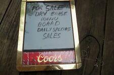 Beer Coors Light Color Erase Marker Menu Board Lighted Man Cave Bar Tavern Sign