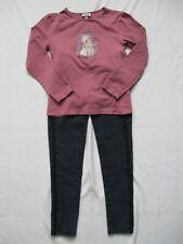 Vêtement Habit Fille Taille 8-10 ans Jeans Legging Bleu T-Shirt  Rose ensemble