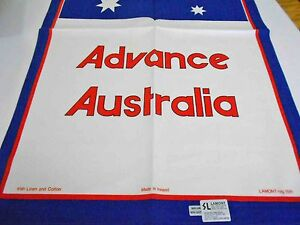 Vintage Teatowel 'Adance Australia' Pure Irish Linen by Lamont Brand New