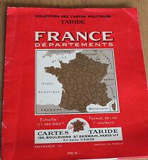 ancienne carte taride France départements et chemin de fer  format 98 par 90