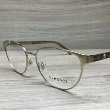 7241236878 Versace VE 1238 Eyeglasses Gold Brown 1339 Authentic 52mm