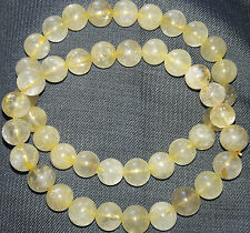 Golden Rutilated Quartz Stone 8 MM Bracelet AAAA++++