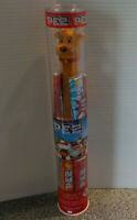 Christmas Reindeer Pez Dispenser With 40% More Candy Sealed In Plastic Tube New