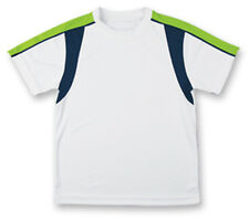 Tv Sports Boys` Classic Tech Micropoly Tennis Crew White, Blue, & Green