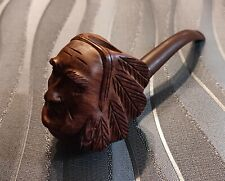 pipe sculptée bruyère tête d'indien COURRIEU COGOLIN  Briar pipe