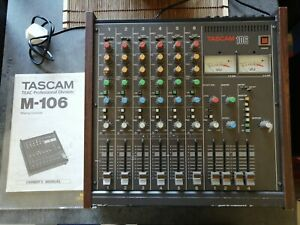 Tascam M-106 Vintage Mixer with Manual - Solid Condition