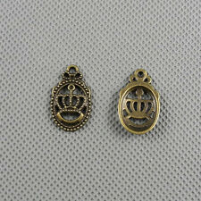 3x Craft Supplies Fashion jewellery Making Pendants Findings Charms A2763 Crown