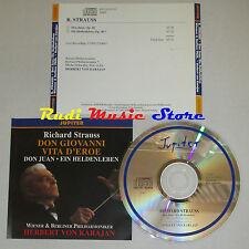 CD STRAUSS Don giovanni vita d'eroe HERBERT VON KARAJAN jupiter lp mc dvd