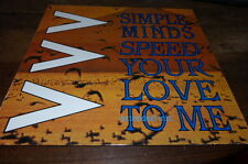 "SIMPLE MINDS - Vinyle Maxi 45 tours / 12"" !!! SPEED YOUR LOVE TO ME !!! 601 159"