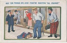 POSTCARD  COMIC  Get yer things off Jane.....