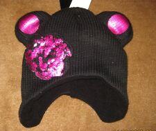 Spencer's Baby Toddler Bear Hat with Flower  Brand New with Tags One Size